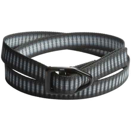 Bison Designs Black Viper Belt (For Men and Women) in Charcoal Chips - Closeouts