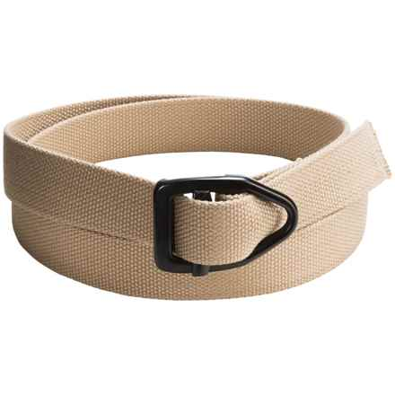 Bison Designs Black Viper Canvas 30mm Belt (For Men and Women) in Tan - Closeouts