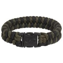 Bison Designs Cobra Braid Two-Tone Bracelet (For Men and Women) in Dark Olive/Black - Closeouts