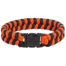 Bison Designs Cobra Braid Two-Tone Bracelet (For Men and Women) in Orange/Black - Closeouts