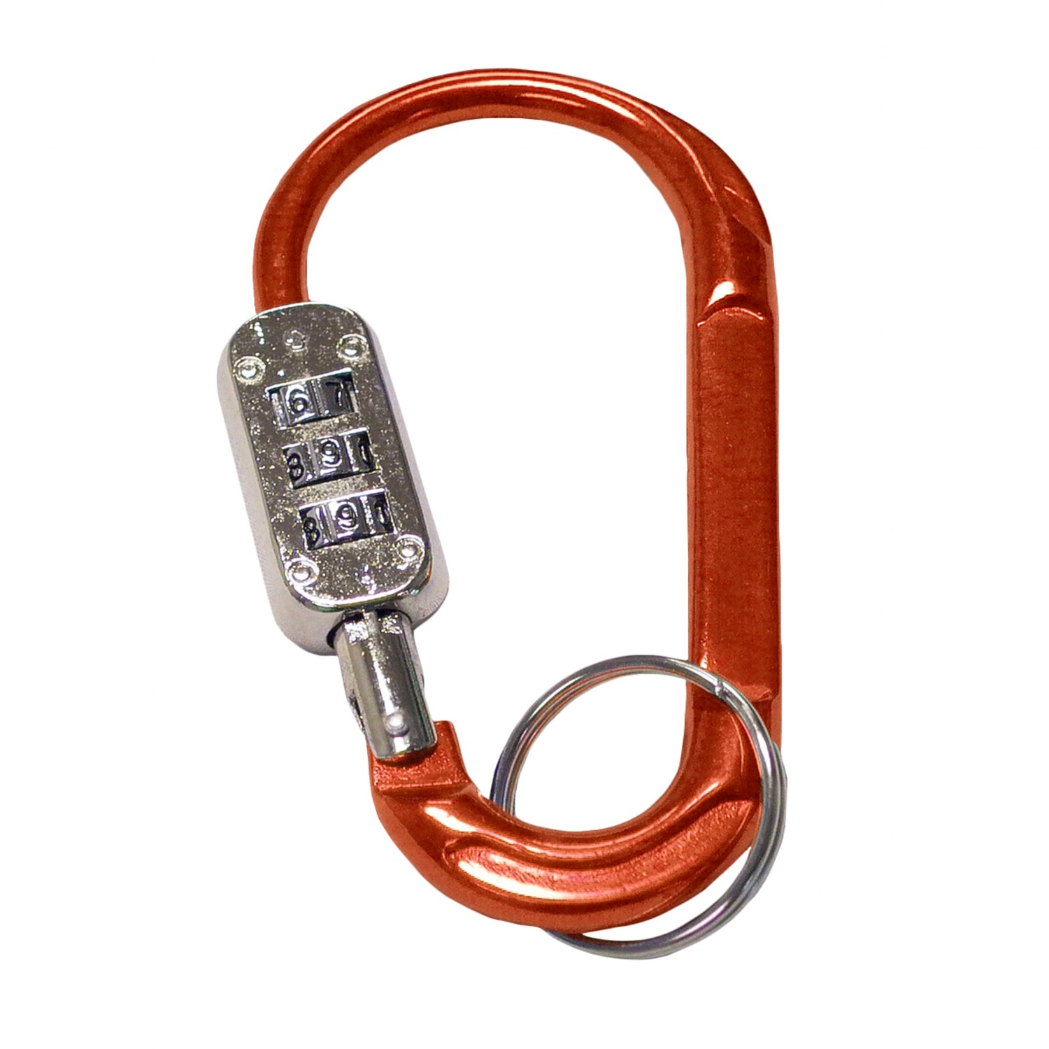 Bison design combination lock carabiner large for Designer carabiner