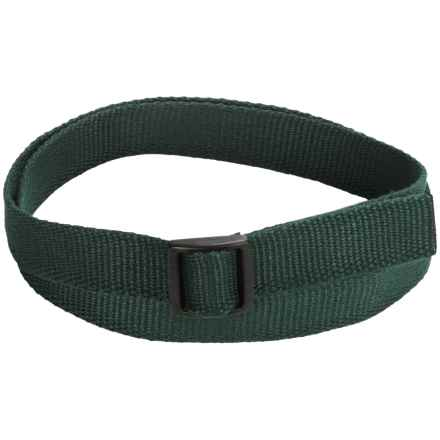 Bison Designs Eco Slider Belt - 25mm (For Men and Women) in Green - Closeouts