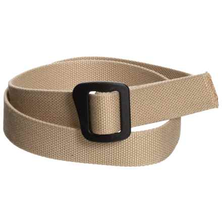 Bison Designs ECO Webbed Belt - 30mm (For Men and Women) in Bamboo Tan - Closeouts