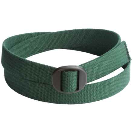 Bison Designs Ellipse Cotton 30mm Belt (For Men and Women) in Green - Closeouts