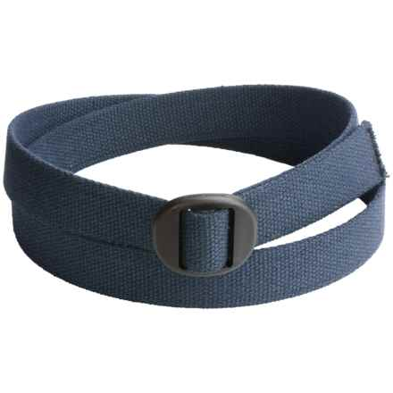 Bison Designs Ellipse Cotton 30mm Belt (For Men and Women) in Navy - Closeouts