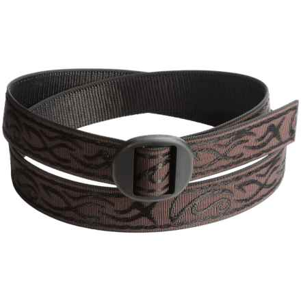 Bison Designs Ellipse Tattoo Damask 30mm Belt (For Men and Women) in Brown - Closeouts