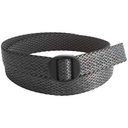 Bison Designs Ellipse Top Weave 30mm Belt - Reversible (For Men and Women) in Charcoal - Closeouts