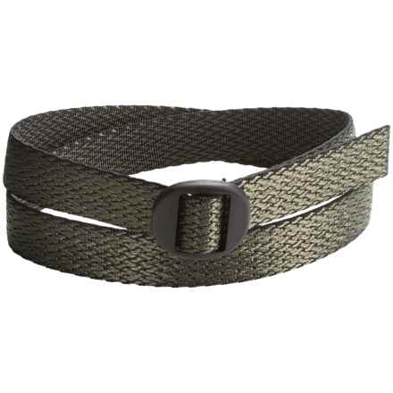 Bison Designs Ellipse Top Weave 30mm Belt - Reversible (For Men and Women) in Olive - Closeouts