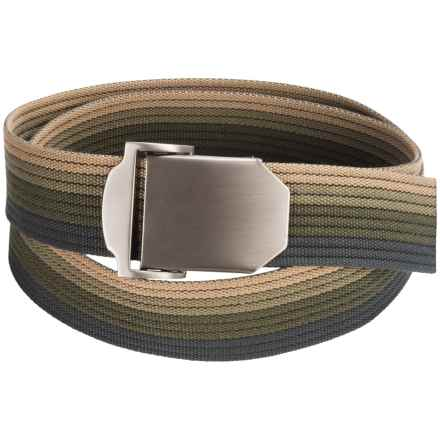 Bison Designs Flat Iron Belt (For Men and Women) in Forest Ombre - Closeouts