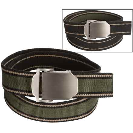 Bison Designs Flat Iron Reversible Belt (For Men) in Pathway - Closeouts