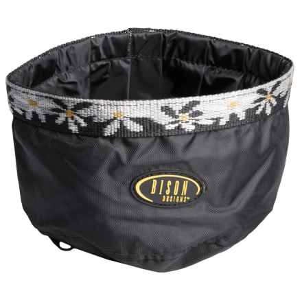 Bison Designs Fold-a-Bowl Collapsible Dog Bowl in Black - Closeouts