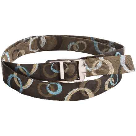 Bison Designs Gunmetal Decapinator Belt - Nylon (For Men and Women) in Mocha - Closeouts