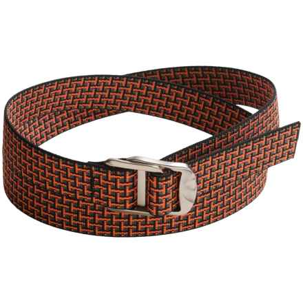 Bison Designs Gunmetal Decapinator Belt - Nylon (For Men and Women) in Orange Brick - Closeouts