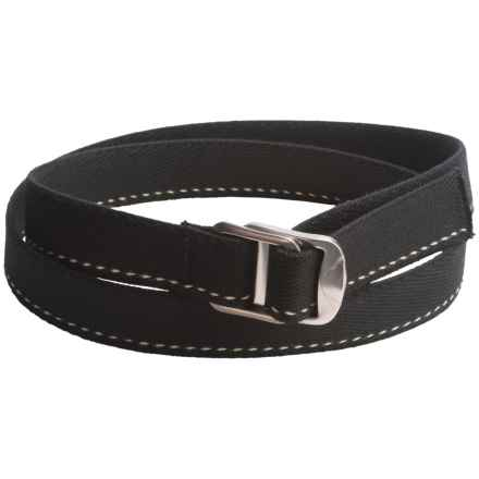 Bison Designs Gunmetal Decapinator Soy Belt (For Men and Women) in Black - Closeouts