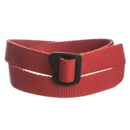 Bison Designs Ingeo Millennium Webbing Belt (For Men and Women) in Rose Gold - Closeouts