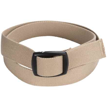 Bison Designs Kamalock Canvas Belt (For Men and Women) in Tan - Closeouts