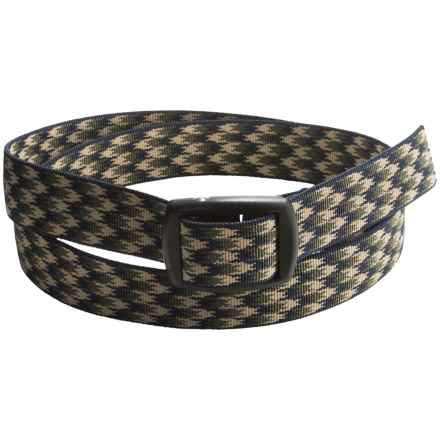 Bison Designs Kamalock Houndstooth 30mm Belt (For Men and Women) in Green - Closeouts