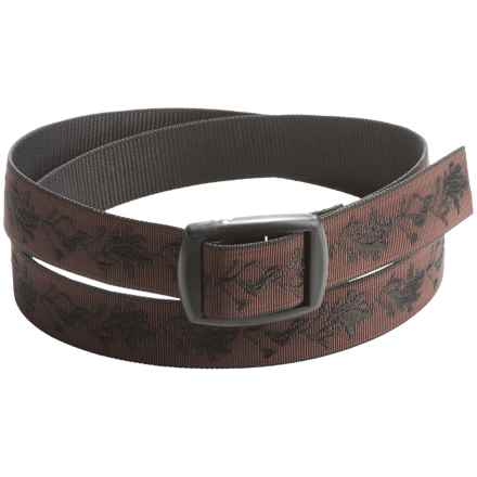 Bison Designs Kamalock Oak Leaves Damask 30mm Belt (For Men and Women) in Brown - Closeouts