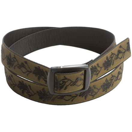 Bison Designs Kamalock Oak Leaves Damask 30mm Belt (For Men and Women) in Olive - Closeouts