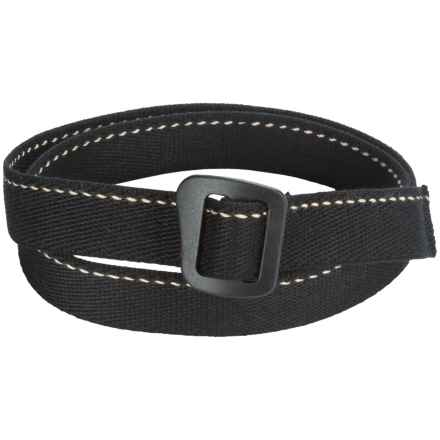 Bison Designs Kamalock Soy Fabric Belt (For Men) in Black - Closeouts
