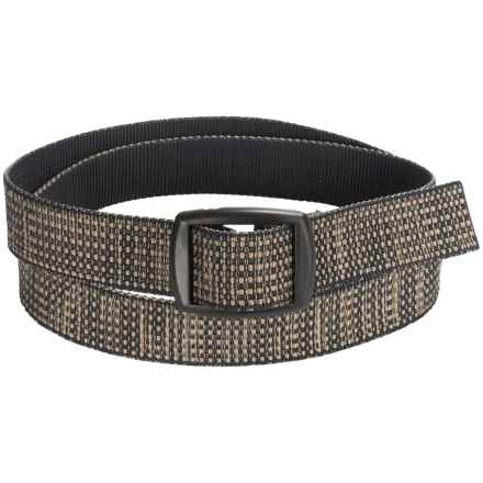 Bison Designs Kamalock Tweed Belt (For Men and Women) in Olive - Closeouts