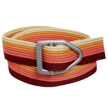 Bison Designs LC Gunmetal 38mm Belt - Canvas (For Men and Women) in Fading Sunset - Closeouts
