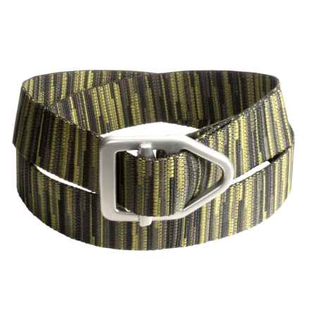 Bison Designs LC Gunmetal 38mm Belt - Canvas (For Men and Women) in Forest Ombre - Closeouts
