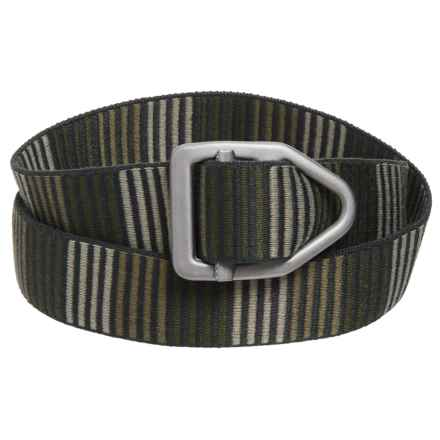 Bison Designs LC Gunmetal 38mm Belt - Canvas (For Men and Women) in Ladderlock Drab - Closeouts