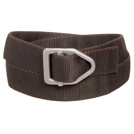 Bison Designs LC Gunmetal 38mm Belt - Canvas (For Men and Women) in Pewter - Closeouts