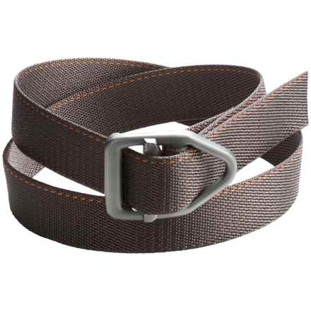 Bison Designs LC Gunmetal 38mm Belt - Canvas, Top-Stitch Detail (For Men and Women) in Orange - Closeouts