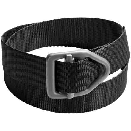 Bison Designs LC Gunmetal Rugged 38mm Belt (For Men and Women) in Black - Closeouts