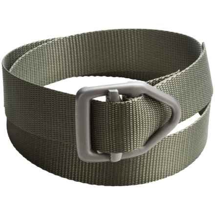 Bison Designs LC Gunmetal Rugged 38mm Belt (For Men and Women) in Olive - Closeouts