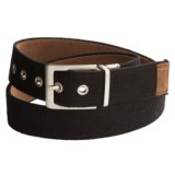Bison Designs Leather-to-Webbing Belt - Reversible (For Men and Women)