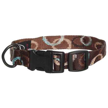 Bison Designs Mocha Print Dog Collar in Brown - Closeouts