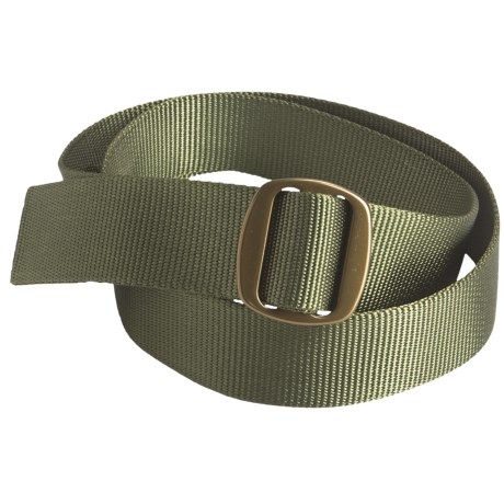 Bison Designs Ojai Web Belt - 38mm (For Men and Women) in Olive W/ Bronze Buckle