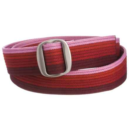 Bison Designs Ojai Web Belt (For Men and Women) in Rainbow Reds - Closeouts