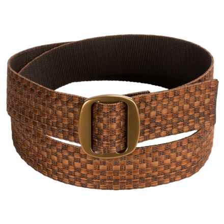 Bison Designs Ojai Wide Belt (For Men) in Carmel - Closeouts