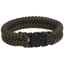 Bison Designs Paracord Bracelet (For Men and Women) in Dark Olive - Closeouts