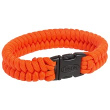 Bison Designs Paracord Bracelet (For Men and Women) in Orange - Closeouts