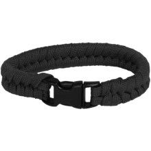 "Bison Designs Paracord Survival Bracelet - 7"" in Black - Closeouts"