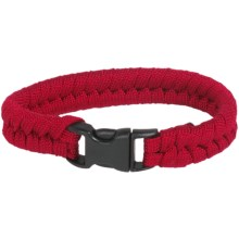 Bison Designs Paracord Survival Bracelet - 7' in Red - Closeouts