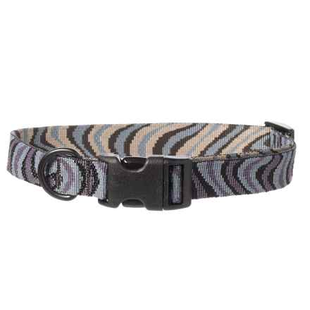 Bison Designs Print Dog Collar in Gray - Closeouts