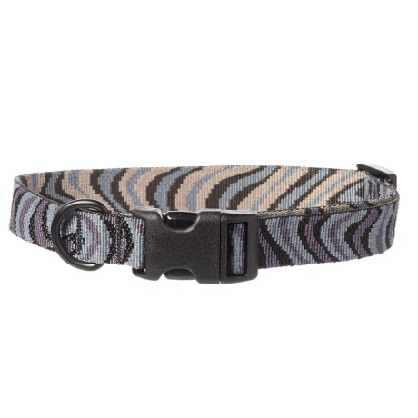 Bison Designs Print Dog Collar in Gray