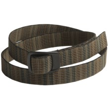 Bison Designs Pure Trek Web Belt - Black Finish Buckle (For Men and Women) in Rattan Olive - Closeouts
