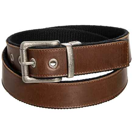 Bison Designs Reversible Leather Belt (For Men) in Black/Brown - Closeouts