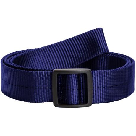 Bison Designs Slider Buckle Web Belt - 25mm (For Men and Women) in Blue Ms
