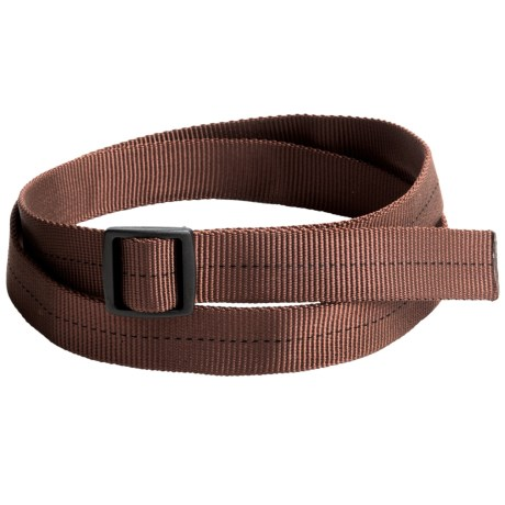 Bison Designs Slider Buckle Web Belt - 25mm (For Men and Women) in Brown Military Solid