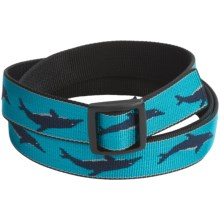 Bison Designs Slider Buckle Web Belt - 25mm (For Men and Women) in Dolphins - Closeouts