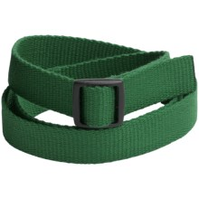 Bison Designs Slider Buckle Web Belt - 25mm (For Men and Women) in Eco Green - Closeouts