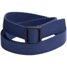 Bison Designs Slider Buckle Web Belt - 25mm (For Men and Women) in Eco Navy - Closeouts